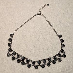 Vintage Black Daisy Chain Necklace